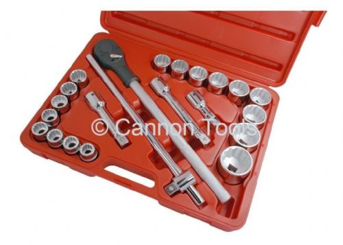 22 Pc 3/4'' Inch Dr 19-50Mm Socket Ratchet Extension Garage Workshop Tool Set